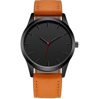 WJ-7126 Hot Sale Simple Quartz Handwatch Luxury High Quality Cheap Leather Wrist Watch Men Watch Small MOQ OEM Custom Logo