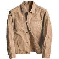 High Quality  Waterproof Wax Canvas Jacket For Man
