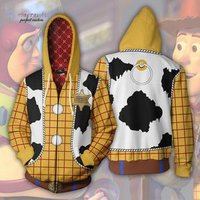 New Toy Story Series 3D Sweater cosplay anime Zip Cardigan Hooded Sports Jacket