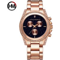 Hannah Martin Gold Plated New Style Femme Dress Watch Stainless Steel Women Watches HM-1108