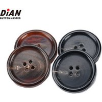 Shiny Polished Designer 40L 25mm Large Horn Button For Coat Suit