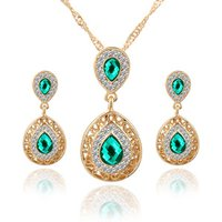Fashion Top Jewelry Set Rose Gold Plated Austrian Crystal Earring/Necklace/Ring /bracelet Wholesale