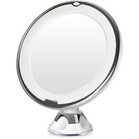 360 degree round vanity illuminated magnifying rechargeable led makeup mirror