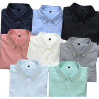 ready goods custom office slim fit CVC long sleeve plain oxford mens dress shirts