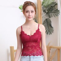 Wholesale Custom Lace Tube Top Flower Sexy Crop Top Female Tanks Top Bralette Camisoles For Women