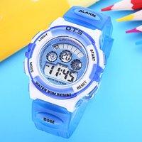 O.T.S 8331 Fashion Children Electronic Wrist Watches Plastic 50m Waterproof Digital Led Clock Boys Girls Sports OTS kid Watch