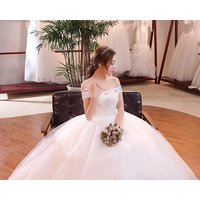 China custom simple strapless maternity wedding dress for bridal