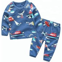 Spring Autumn Kids Clothing Sets boy Cotton casual childrens wear Baby Boys shirt Pant 2 Pcs lovely Cartoon letter Clothes Set