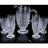 Wholesale glass water jug set drinkware arabic glass pitcher set with cup