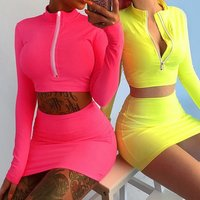 women Crop Top And Skirts Sets Solid Colour Two Piece Set 2019 Summer Hot Sell outfit  boutique Clothes  wrap skirt