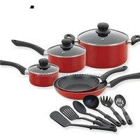 nonstick aluminum pan fry pan stainless steel casserole cookware set iron pot set  for gas/induction  milk pot 14sets WD-454