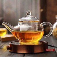 Mini heat resistant pyrex glass teapot with tea strainer