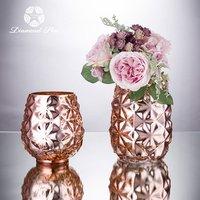 mercury round bottom wholesale handmade table small centerpieces mirrored rose gold glass wedding flower vase
