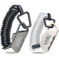 Wholesale Mini Bike Lock 1.2M Fold Backpack Cycling Helmet Bicycle Cable Lock 3 Digit Combination