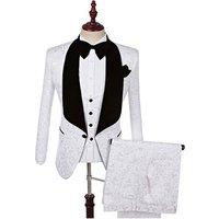 2019 Shawl Lapel Slim Fit Groom Tuxedos Red White Black Latest Coat Pant Designs Men Wedding Suits Men Prom Tuxedo Men Suit