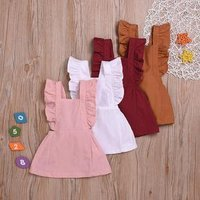 Cute Baby Girls Linen Sleeveless Dress Sundress For Newborn Baby Girl Infant  Linen Children Clothes Kid Clothing Summer