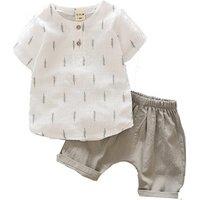 2019 Newest Arrival Wholesale Summer Baby Boy Clothing Sets Soft Linen Cotton Boys Boutique kids Outfits Children Clothes set