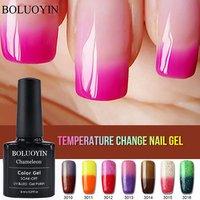 Soak Off 29 Colors UV Gel Lacquer Temperature Change Color Gel Varnish Thermal Primer Semi Permanent Lucky UV Gel Nail Polish