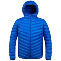 Mens Winter lightweight Hooded Packable Duck Down Jacket