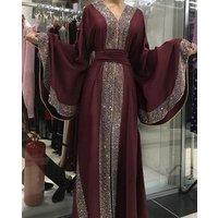 2019 New Model Pakistan Abaya In Dubai Wholesale Open Muslim Kaftan Abaya Dress Sexy Girls Abaya