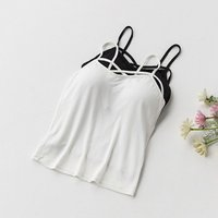 Sexy Crop Top Women Pad Bra Bustier Bralette Top Solid Padded Camisole Female Ladies Tank Tops