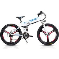 48V 350W Aluminium Alloy Electric Bike Full Suspension 12.8AH Lithium Battery Electric Mountain Bicycle