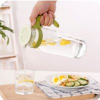 Hot sale glass cold plastic juice water filter jug with lid and handle
