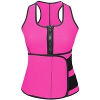 Hot Sweat Sauna Vest Body Waist Trainer with Sliming Belt Corset Tank Top