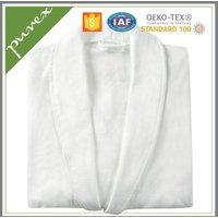 Purex hotel style waffle bath robe 100% cotton wholesale luxury bathrobe