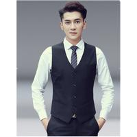 Formal Black Mens Suit Vest Waistcoat for Wedding