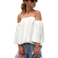 207430 Hottest Selling 2019  Cheap Off Shoulder Loose Tops For Blouse Women Ladies