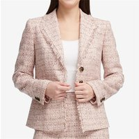 Women Business Casual Tweed 3 Button Blazer Suit Latest Stylish Made to Measure Slim Fit Suits with Skirt for Women