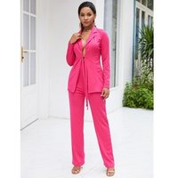 YSMARKET Autumn Sexy 2 Piece Clothing Set Ladies Office Formal Elegant Sexy Pant Suits Women Business Casual Blazer And Trousers