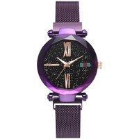 Hot Fashion Women Watch Starry Sky Mesh Belt Luxury Dress Magnetic watch TW049