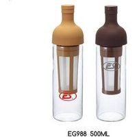 BPA free brewing filter core glass cold brew coffee maker, filter coffee maker, glass coffee bottle