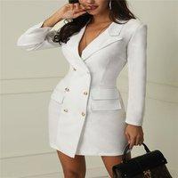 YQ69 New Arrival Lapel Blazer women Coat Fashion Lady Dress Coat Soft Warm Blazer Dress