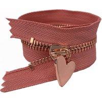 NO.3 rose gold teeth Open End Metal zipper for bags handbag, wallet