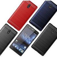 Carbon Fiber Shockproof Soft TPU Back Cover mobile Phone Case For nokia 3