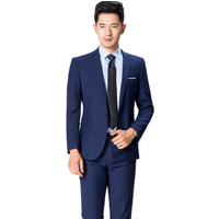 New Arrival Classic Elegant Mens Tailored Business Suit Wholesale good quality cheap ready made in stock hotel office uniform