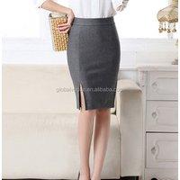 spring summer autumn new women skirt high waist work slim pencil skirt open fork sexy office lady skirts female