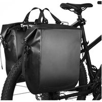 Custom 500D PVC tarpaulin bike rack cycling waterproof dry saddle bag bicycle 25L stuff pannier bags