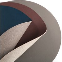 Tabletex anti slip plastic round pvc leather heat resistant table mat