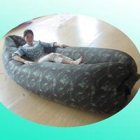 sunbathing inflatable beach bed, camouflage pattern lounger inflatable sleeping bag