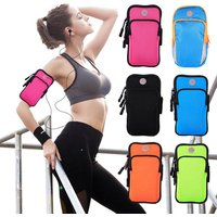 6inches Sport Armband Case Zippered Fitness Running Arm Bag