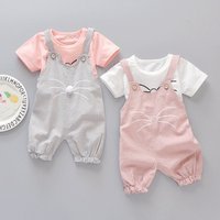 Spring newborn baby girls clothes sets fashion suit T-shirt and pants suit baby girls outside wear sports suit clothing