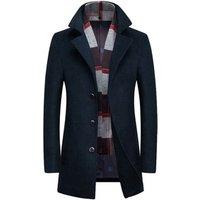 Latest design mens long winter coat wool coat for men cheap china wholesale clothing
