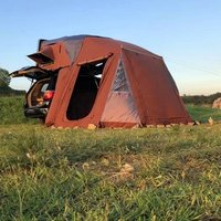 High Quality ABS Material  Hard shell hiking tent 4WD  compass car roof top tent with awning
