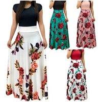 2019 New design casual milk silk floral short sleeves women dress