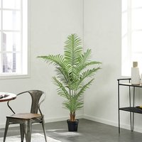 145cm interior decoration green plant bonsai artificial palm tree rubber tree