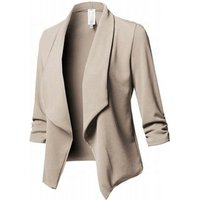 2019 Solid Color Polyester Soft Casual Style Coat Large Size S-5XL Blazer Ladies Women Coat